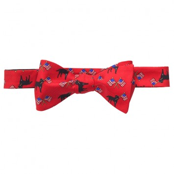 Labs & Flags Bow - Red